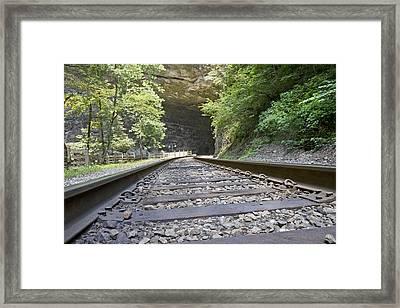 On The Tracks Framed Print by Betsy Knapp