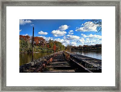 On The Tracks Framed Print