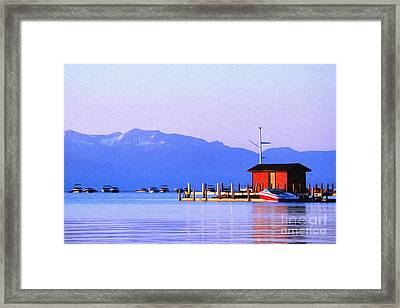 On The Water Framed Print by Anne Raczkowski