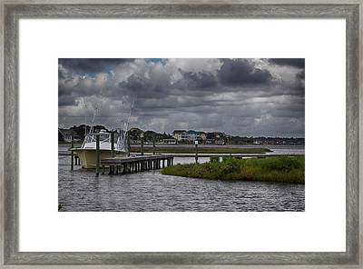 On The Water Framed Print by Christina Durity