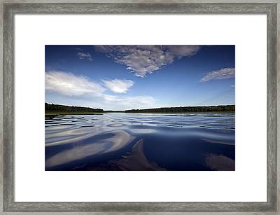 On The Water Framed Print by Gary Eason