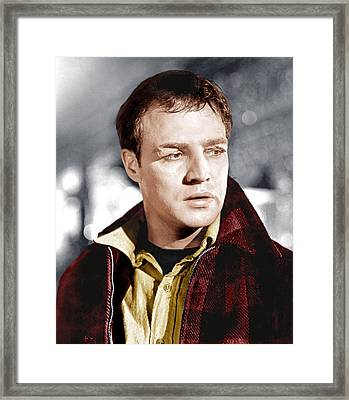 On The Waterfront, Marlon Brando, 1954 Framed Print by Everett
