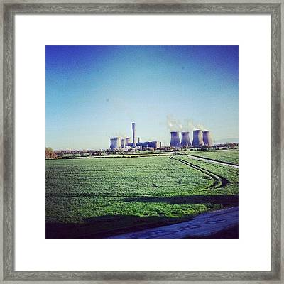 On The Way To #liverpool #green Framed Print