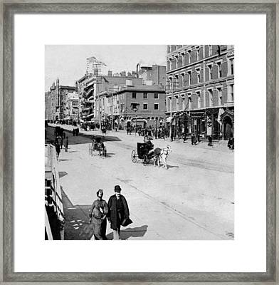 On The Way To The White House Inauguration - Washington Dc - C 1889 Framed Print by International  Images