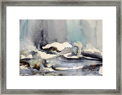 On Thin Ice Framed Print by Lynne Parker