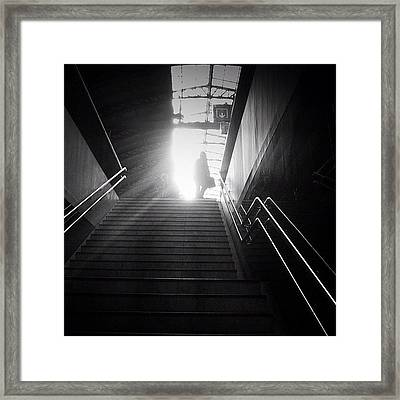 On To The Next Level Framed Print