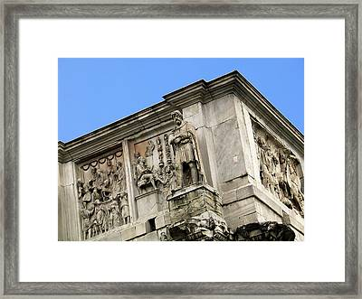 On Top Of The Arch Of Constantine Framed Print