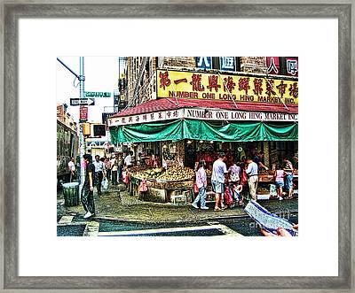 On Tour In Chinatown-nyc Framed Print by Anne Ferguson