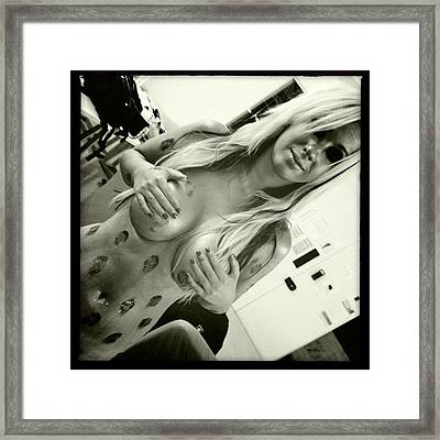 Onça Dourada Da Minha Vida <3 Framed Print