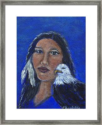 Onawa Native American Woman Of Wisdom Framed Print by The Art With A Heart By Charlotte Phillips
