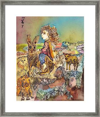 Once I Knew My Name  Framed Print by Cynthia  Richards