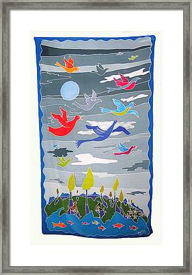 Once In A Blue Moon Framed Print by Rollin Kocsis