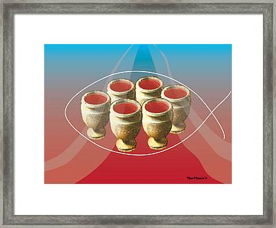Once Upon A Time In Cana Framed Print by Rom Francis