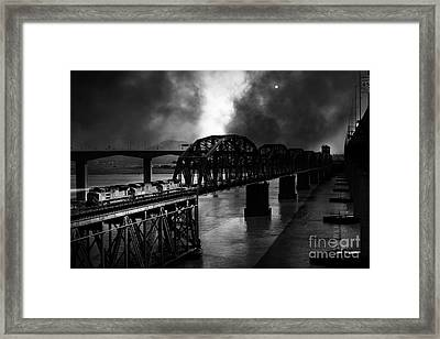 Once Upon A Time In The Story Book Town Of Benicia California - 5d18849 - Black And White Framed Print by Wingsdomain Art and Photography