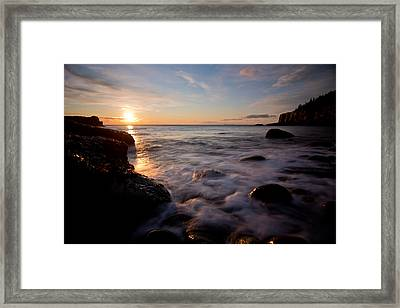 One And The Same In Maine Framed Print by Chad Tracy