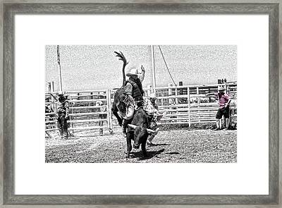 One Buck At A Time Framed Print by Rachelle Rice