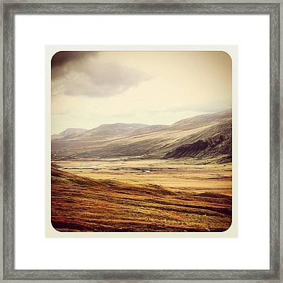 One Day In The Highlands Framed Print