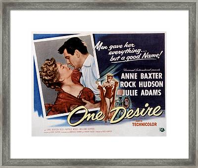 One Desire, Anne Baxter, Rock Hudson Framed Print by Everett