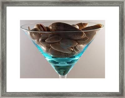 One Dirty Martini Framed Print by Skip Willits