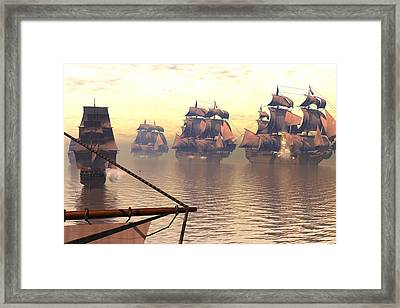 One Down Framed Print by Claude McCoy