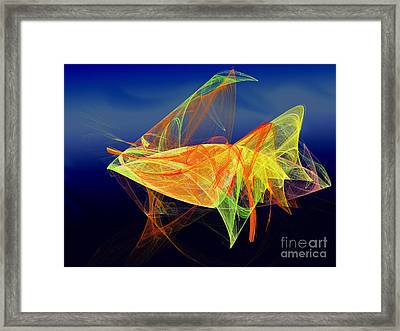 One Fish Rainbow Fish Framed Print by Andee Design