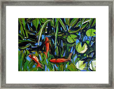 One Fish Two Fish Redfish Framed Print by Charlie Spear