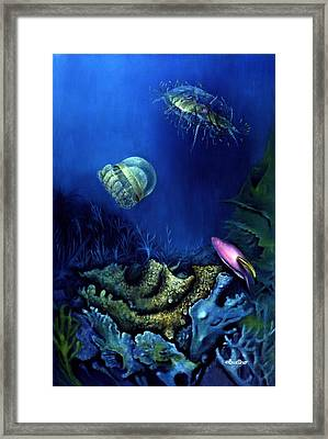 One Fish Two Jelly Fish Framed Print