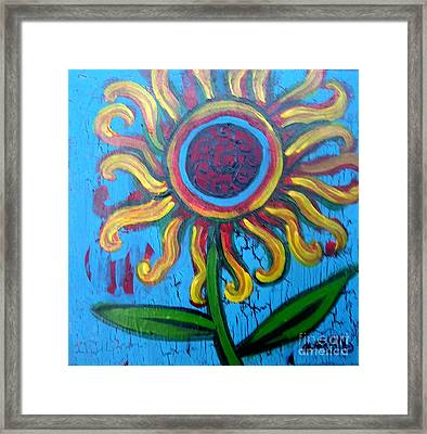One Flower Framed Print by Genevieve Esson