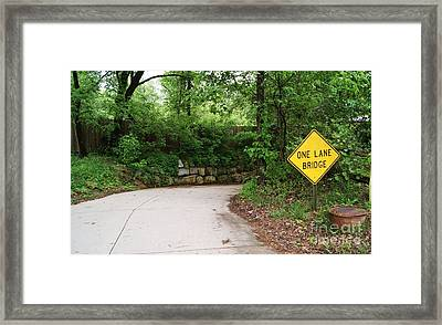 Framed Print featuring the photograph One Lane Adventures by Julie Clements