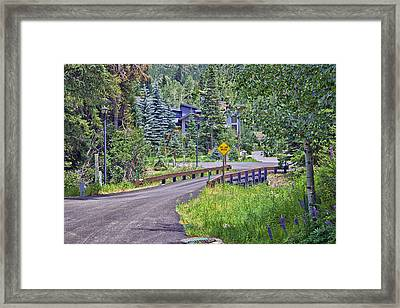 One Lane Bridge - Vail Framed Print by Madeline Ellis