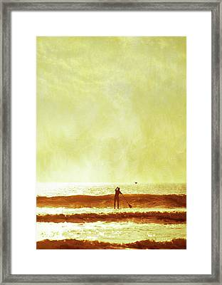 One Man And His Gull Framed Print by s0ulsurfing - Jason Swain