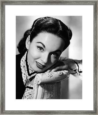 One Minute To Zero, Ann Blyth, 1952 Framed Print