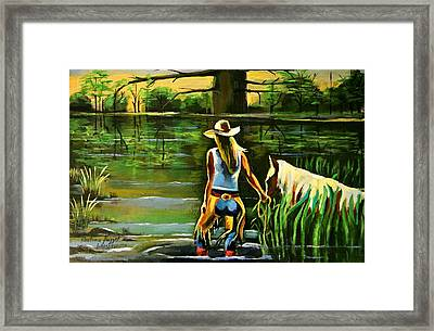 One More Day In Texas  Framed Print by Khatuna Buzzell