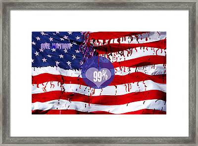 One Nation Framed Print