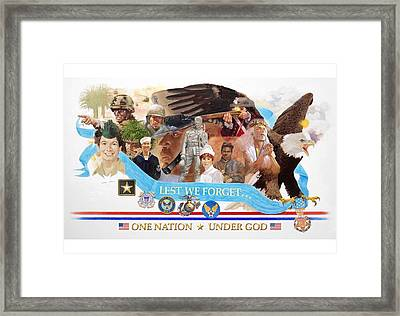 One Nation Under God Framed Print by Chuck Hamrick