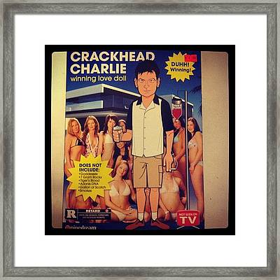One Of My Birthday Gifts: Crackhead Framed Print
