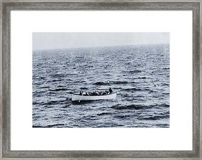 One Of The Titanic Lifeboats As Seen Framed Print
