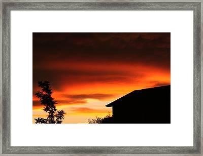 One Of Those Days Framed Print by Bret Worrell