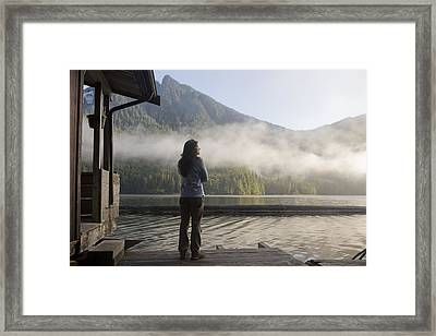 One Person, Woman, Mid Adult, 30-35 Framed Print by Taylor S. Kennedy