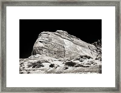 One Rock Framed Print by John Rizzuto
