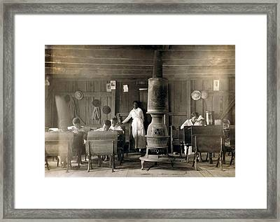 One Room School For African Americans Framed Print by Everett