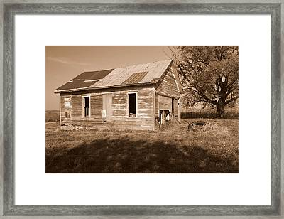 One Room School House Framed Print by Rick Rauzi