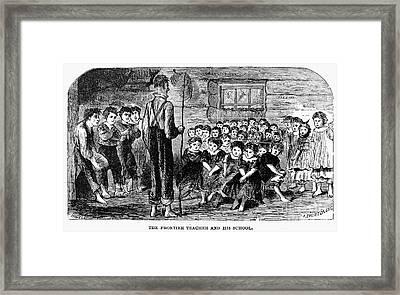 One-room Schoolhouse, 1883 Framed Print by Granger