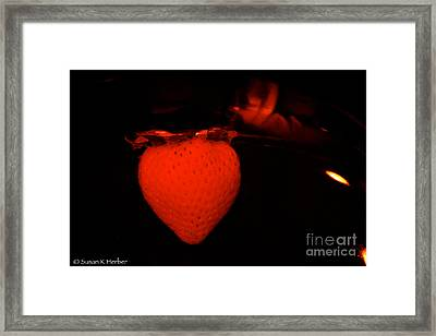 One Scary Berry Framed Print by Susan Herber