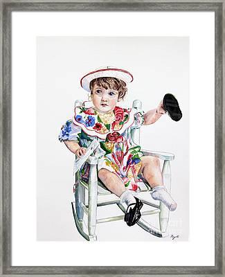 One Shoe Off  Framed Print by Peg Ott Mcguckin
