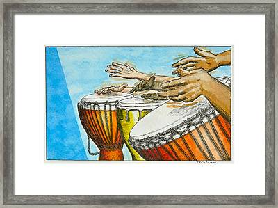 One Song Many Hands Framed Print