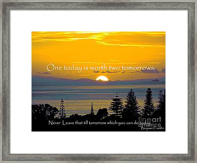 One Today Framed Print