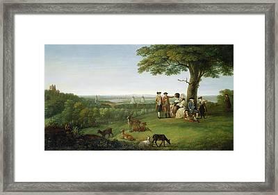 One Tree Hill - Greenwich Framed Print by John Feary