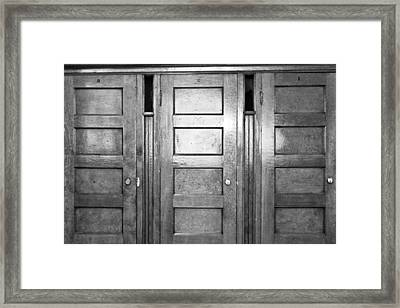 One Two Three Framed Print