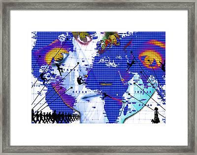 One Vs. World Framed Print by Jenn Bodro
